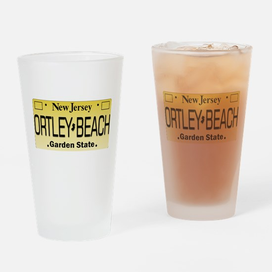 Ortley Beach NJ Tag Gifts Drinking Glass