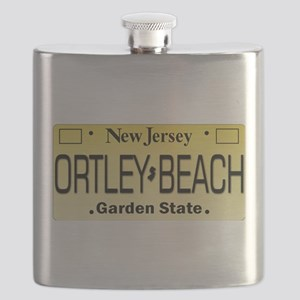 Ortley Beach NJ Tag Gifts Flask