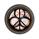 Jewish Peace Window Wall Clock