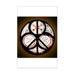 Jewish Peace Window Mini Poster Print