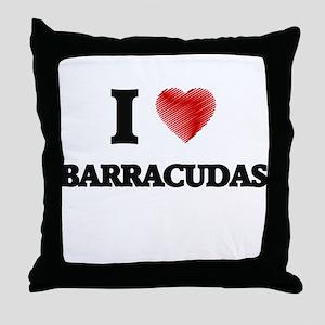 I love Barracudas Throw Pillow