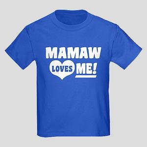 MaMaw Loves Me Kids Dark T-Shirt