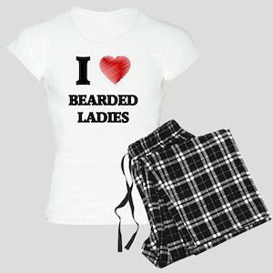 I love Bearded Ladies Women's Light Pajamas