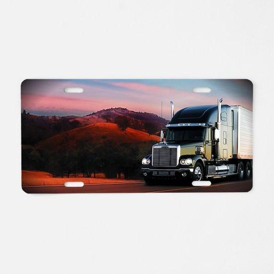 Trucking Aluminum License Plate