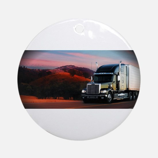 Freightliner Coronado Round Ornament