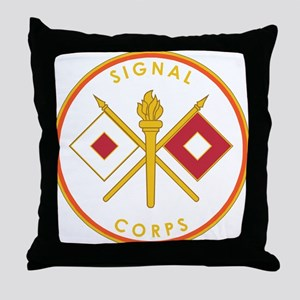 US Army Signal Corps Throw Pillow