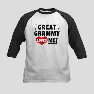 Great Grammy Loves Me Kids Baseball Jersey