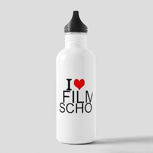 I Love Film School Water Bottle