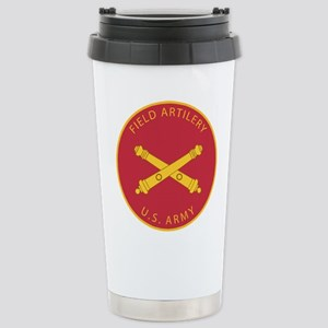 US Army Field Artillery Stainless Steel Travel Mug