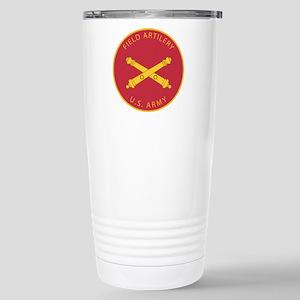 US Army Field Artillery Stainless Steel Travel Mug