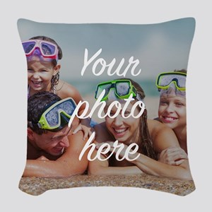 Custom Photo Woven Throw Pillow