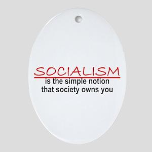 Socialism Oval Ornament