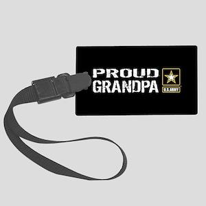 U.S. Army: Proud Grandpa (Black) Large Luggage Tag