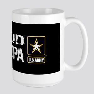 U.S. Army: Proud Grandpa (Black) Large Mug