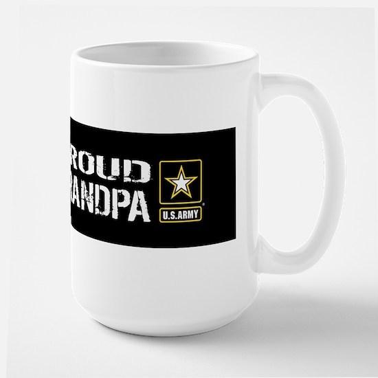 U.S. Army: Proud Grandpa (Black) Large Mug