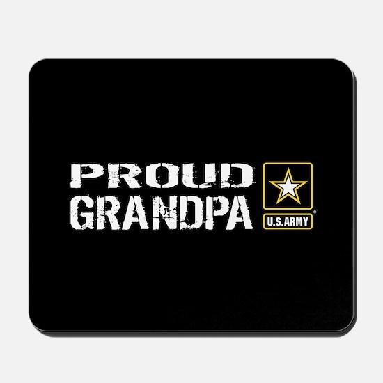 U.S. Army: Proud Grandpa (Black) Mousepad