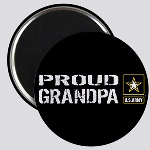 U.S. Army: Proud Grandpa (Black) Magnet
