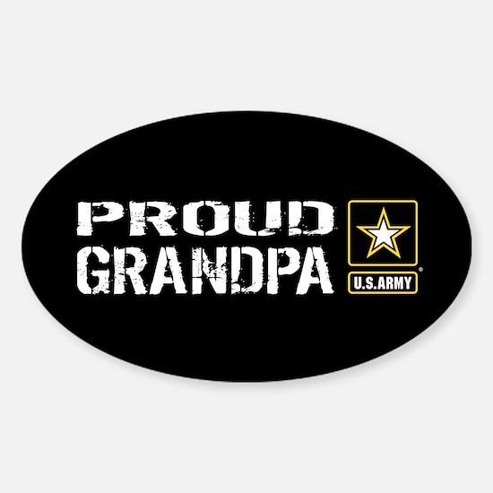 U.S. Army: Proud Grandpa (Black) Sticker (Oval)