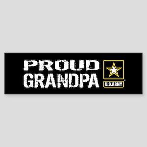 U.S. Army: Proud Grandpa (Black) Sticker (Bumper)