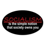 Socialism Oval Sticker