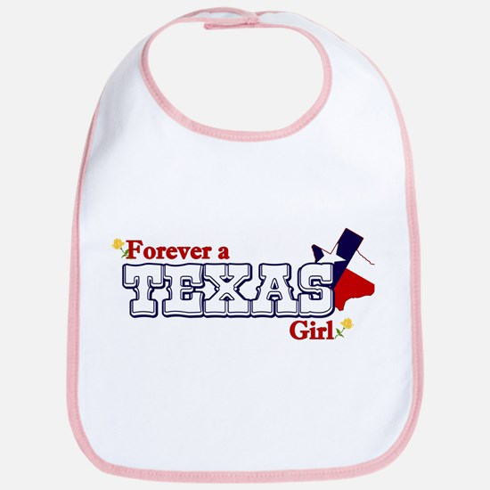 Texas Girl Baby Bib