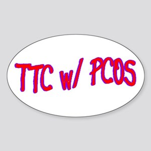 TTC w/ PCOS Oval Sticker