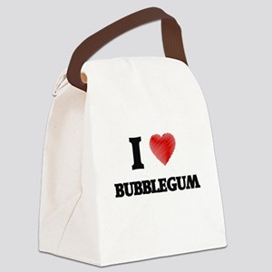 I love Bubblegum Canvas Lunch Bag