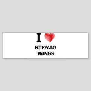 I love Buffalo Wings Bumper Sticker