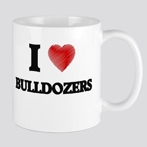 I love Bulldozers Mugs