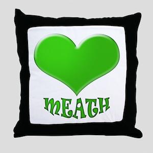 LOVE MEATH Throw Pillow