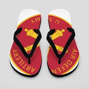 US Army Air Defense Logo Flip Flops