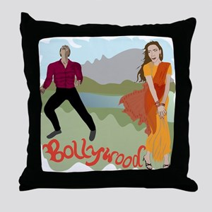 Singing Bollywood Throw Pillow