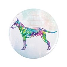 Standard Manchester Terrier Button