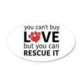 Animal rescue Oval Car Magnets
