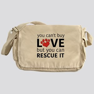 you can't buy love Messenger Bag