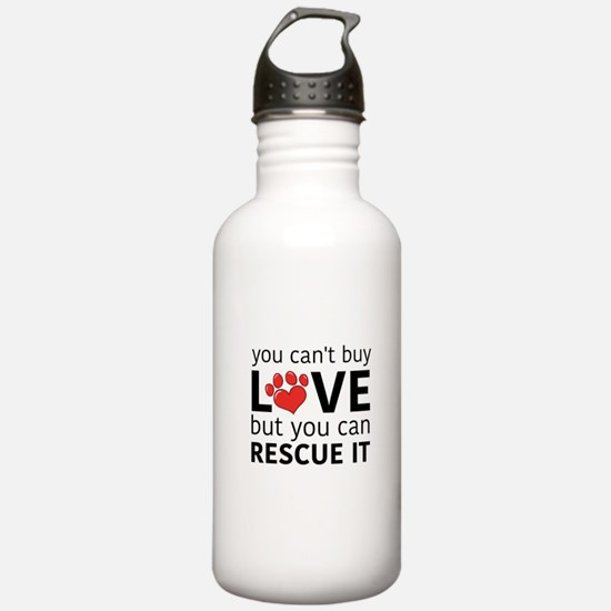 you can't buy love Water Bottle