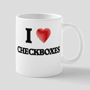 I love Checkboxes Mugs