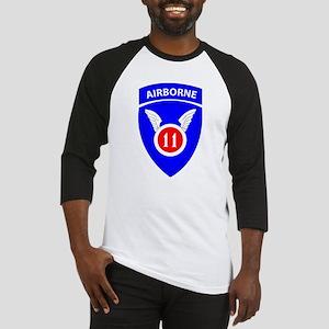 11th Airborne Division Emblem Baseball Jersey