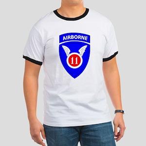 11th Airborne Division Emblem Ringer T