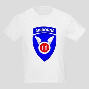 11th Airborne Division Emblem Kids Light T-Shirt