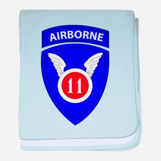 11th Airborne Division Emblem baby blanket
