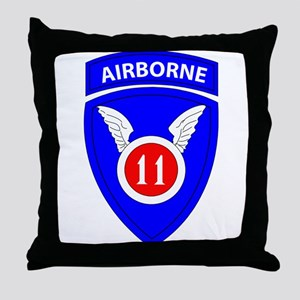 11th Airborne Division Emblem Throw Pillow