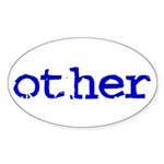 other Oval Sticker