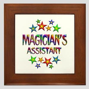 Magician Assistant Framed Tile