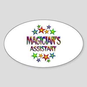 Magician Assistant Sticker (Oval)
