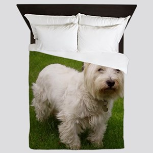 6 full westie Queen Duvet