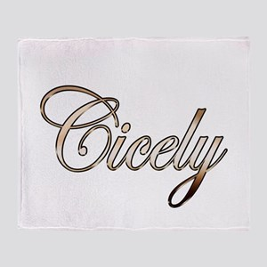 Gold Cicely Throw Blanket