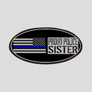 Police: Proud Sister (Black Flag Blue Line) Patch