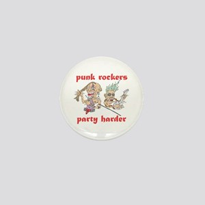 Punk Rockers Party Harder Mini Button