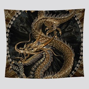 Gold Dragon Wall Tapestry